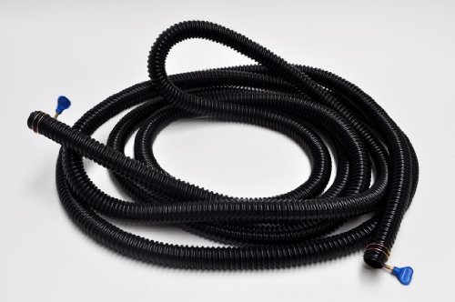 30m Coiled Standard Metric Ribbed Black Pond Hose 1 Inch 25mm 98 Foot Roll