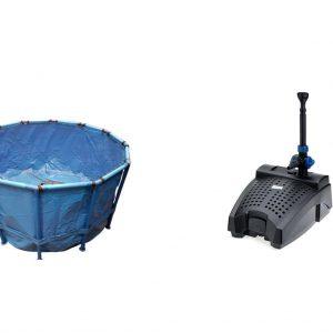 Koi vat with filter