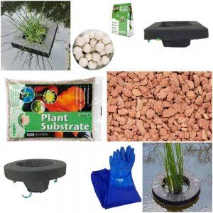 Floating Pond Plant Basket Kit