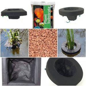 PondH2o Floating Pond Plant Basket Kits & Aquatic Plant Products