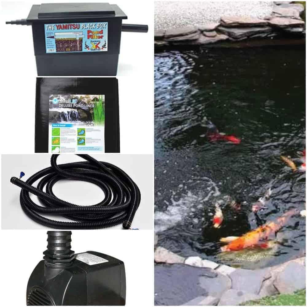 Budget Small Water Garden Pond Kit 500 Gallon Pond Pondh2o