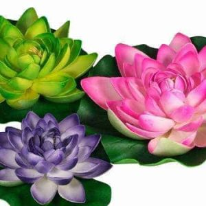 Water Lilies Lotus Flower Floating Decoration, 3 Pack