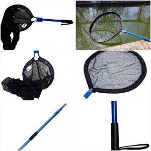 Heavy Duty Koi Handling Kit, 24 Inch Pan Net, Koi Transport Sock, Telescopic Pole & 15 Inch Pole