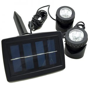 Double Solar Spotlight for Ponds & Water Features