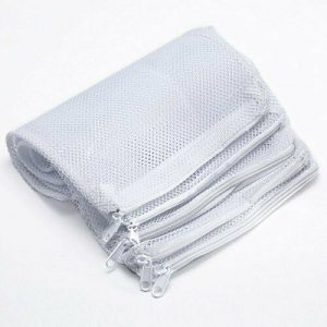 Filter Media Mesh Bag with Zipper 8'' x 12'' Size, 5/64th mesh, 10 Pack
