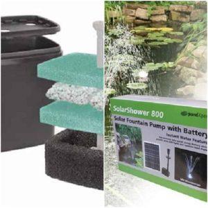 Pond Feature Solar Pump & Filter Combo