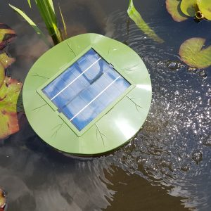 PondH2o Solar Floating Lily Oxygenator Air Pump with Aerating Stone